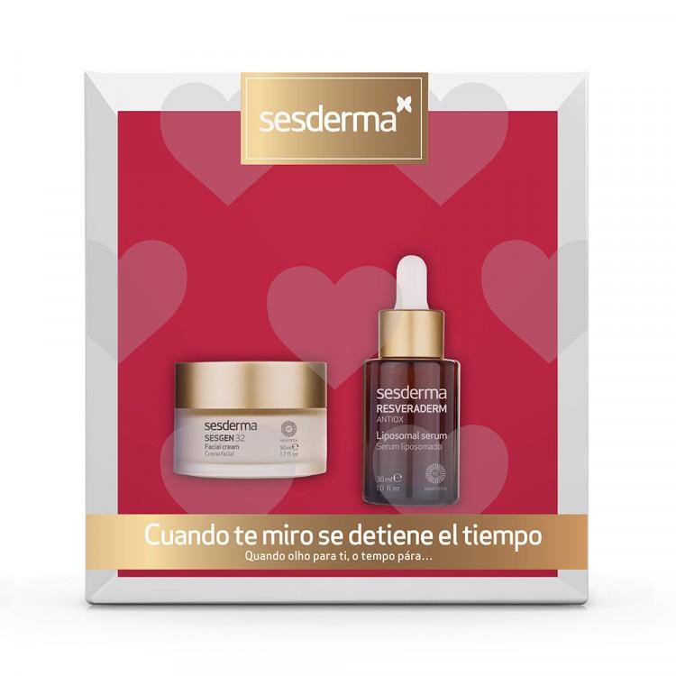 ПРОМОНАБОР SESDERMA: SESGEN 32 Cell activating cream – Крем «Клеточный активатор», 50 мл + RESVERADERM ANTIOX Liposomal Serum – Сыворотка липосомированная, 30 мл