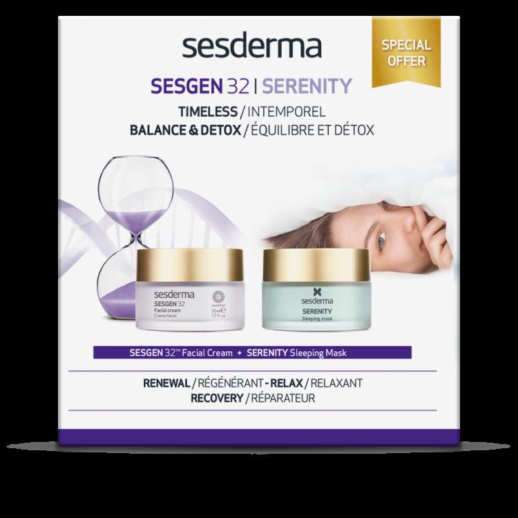 ПРОМОНАБОР SESDERMA: SESGEN 32 – Крем «Клеточный активатор», 50 мл + SERENITY Sleeping mask - Маска ночная для лица, 50 мл