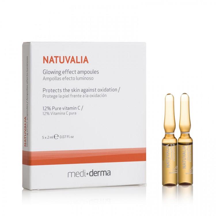 NATUVALIA - GLOWING EFFECT - Ампулы с сияющим эффектом, 5 шт. по 2 мл