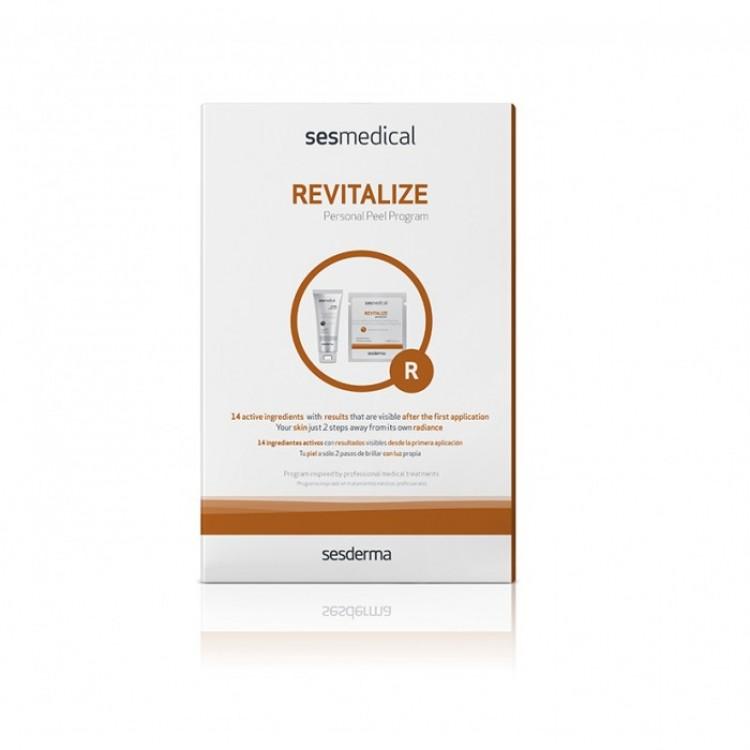 "SESMEDICAL Revitalize personal peel program – Программа персональная ""Ревитализация"" (салфетка-эксфолиант, крем запечатывающий), уп. (4 салф.+15мл)"