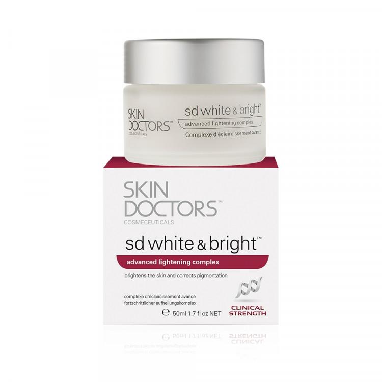 SD White & Bright - Отбеливающий крем для лица и тела, 50 мл